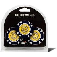Team Golf NCAA Georgia Tech 3 Pack Golf Chip Ball Markers