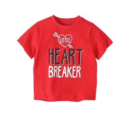 Toddler Boys Red Valentines Day T-Shirt Little Heart Breaker
