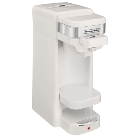 Proctor Silex Single Serve K-Cup Compatible Compact Coffee Maker, White | 49978