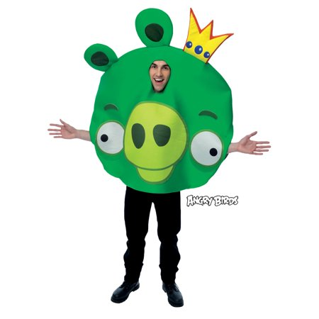 Angry Birds King Pig Adult Halloween Costume - Bird Person Halloween