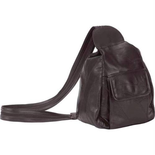 Embassy Italian Stone Design Genuine Leather Backpack Purse LUPU17BR