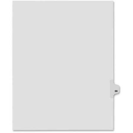 Kleer Fax Legal Exhibit Numbered Index Dividers   Printed Tab S    Digit   Exhibit 68   25 Tab S  Set   8 5   Divider Width X 11   Divider Length   Letter   White Divider   25   Pack