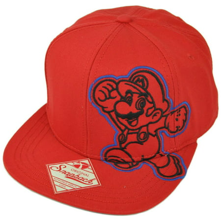 Super Mario Nintendo Video Game Snapback Flat Bill Old School Character Hat Cap