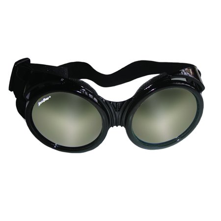 ArcOne The Fly Safety Goggles - Oversized Round Clear Lens with Silver Mirror Finish