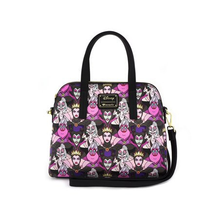 Loungefly Disney Female Villains Malificent Ursula Cruella Crossbody Bag Purse (Female Disney Villains)