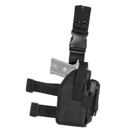 NCSTAR DROP LEG UNIVERSAL HOLSTER BLACK FULL SIZE/COMPACT SEMI-AUTO PISTOLS PVC FABRIC BLK