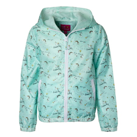 Pink Ladies Jacket For Toddler (Unicorn Print Lined Windbreaker (Baby Girls & Toddler)