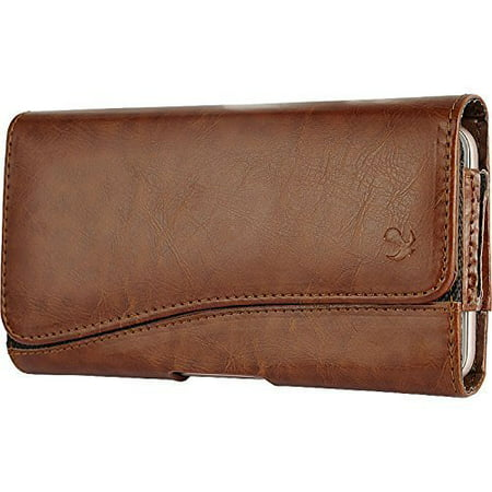 Brown1 Horizontal Belt Clip Holster Leather Pouch Case for LG G Stylo LS770 H631 -  Importer520