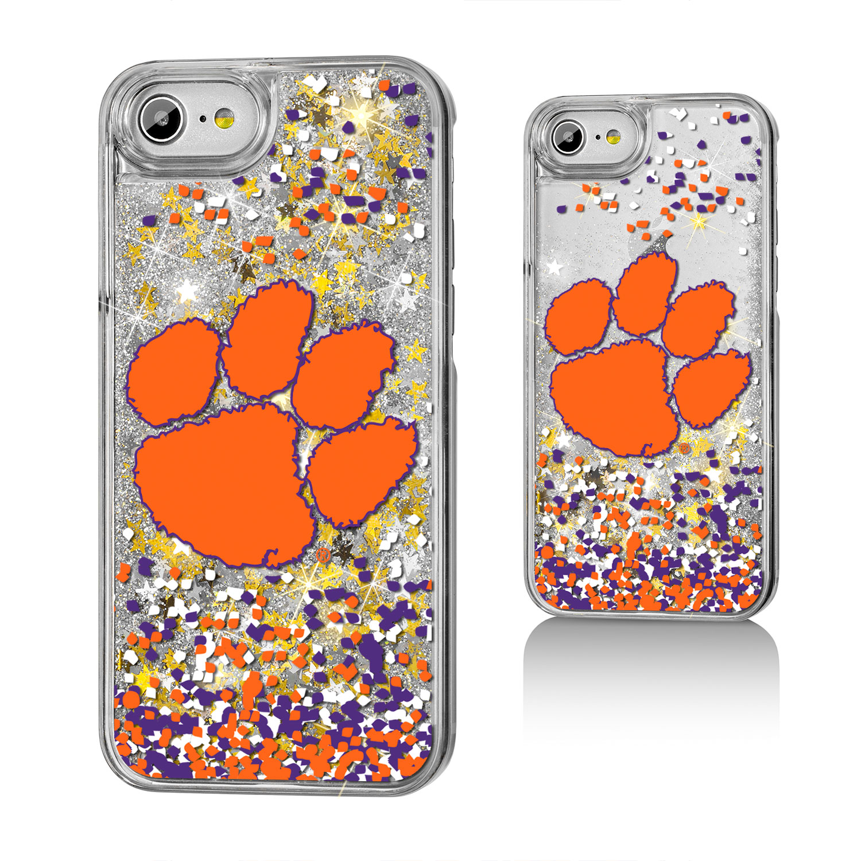 CU Clemson Tigers Confetti Glitter Case for iPhone 8 / 7 / 6