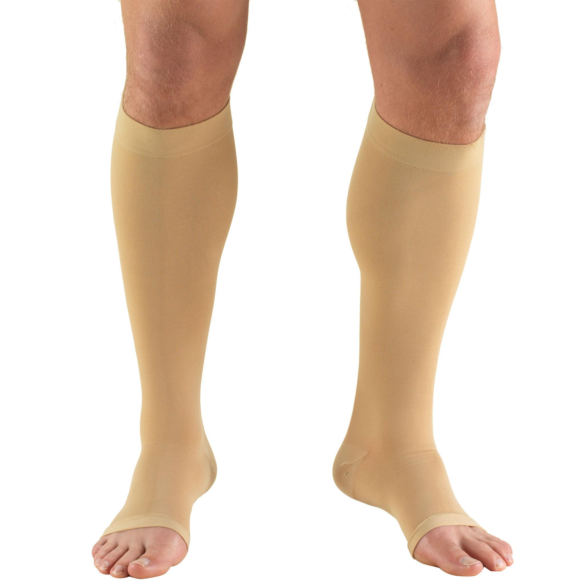 Truform Stockings, Knee High, Open Toe: 30-40 mmHg, Beige, 3X-Large
