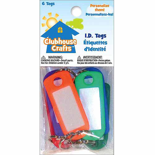 Clubhouse Crafts I.d. Tags 6/pkg-assorte