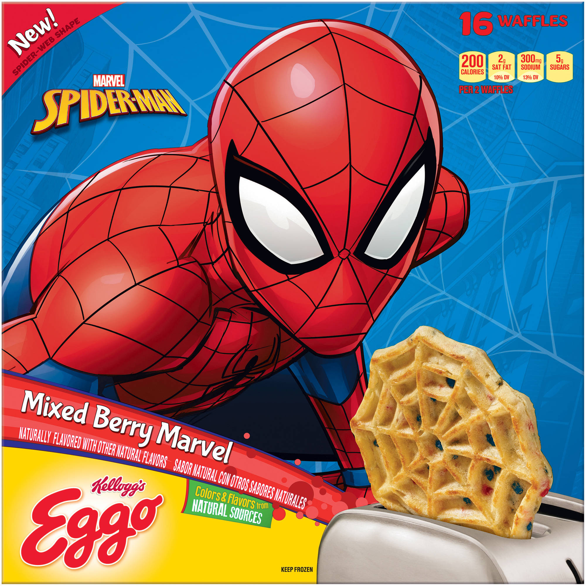 Kellogg's Eggo Limited Edition Mixed Berry Marvel Waffles, 16 count, 19.7 oz