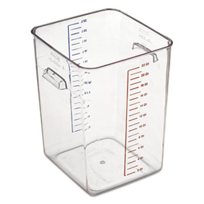 Rubbermaid Commercial Products 6322CLE Space Saver Square Containers Clear - 22 Quart