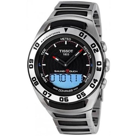 Tissot Sailing-Touch T056.420.21.051.00 45mm Silver Steel Bracelet & Case Anti-Reflective Sapphire Men's Watch