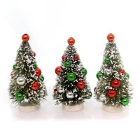 Christmas MINI BOTTLE BRUSH TREES SET/3 Plastic Novelties Lg4431