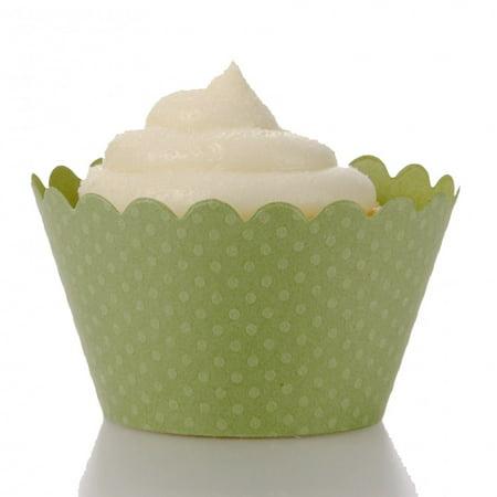 Dress My Cupcake Standard Leaf Green Cupcake Wrappers, Set of 12