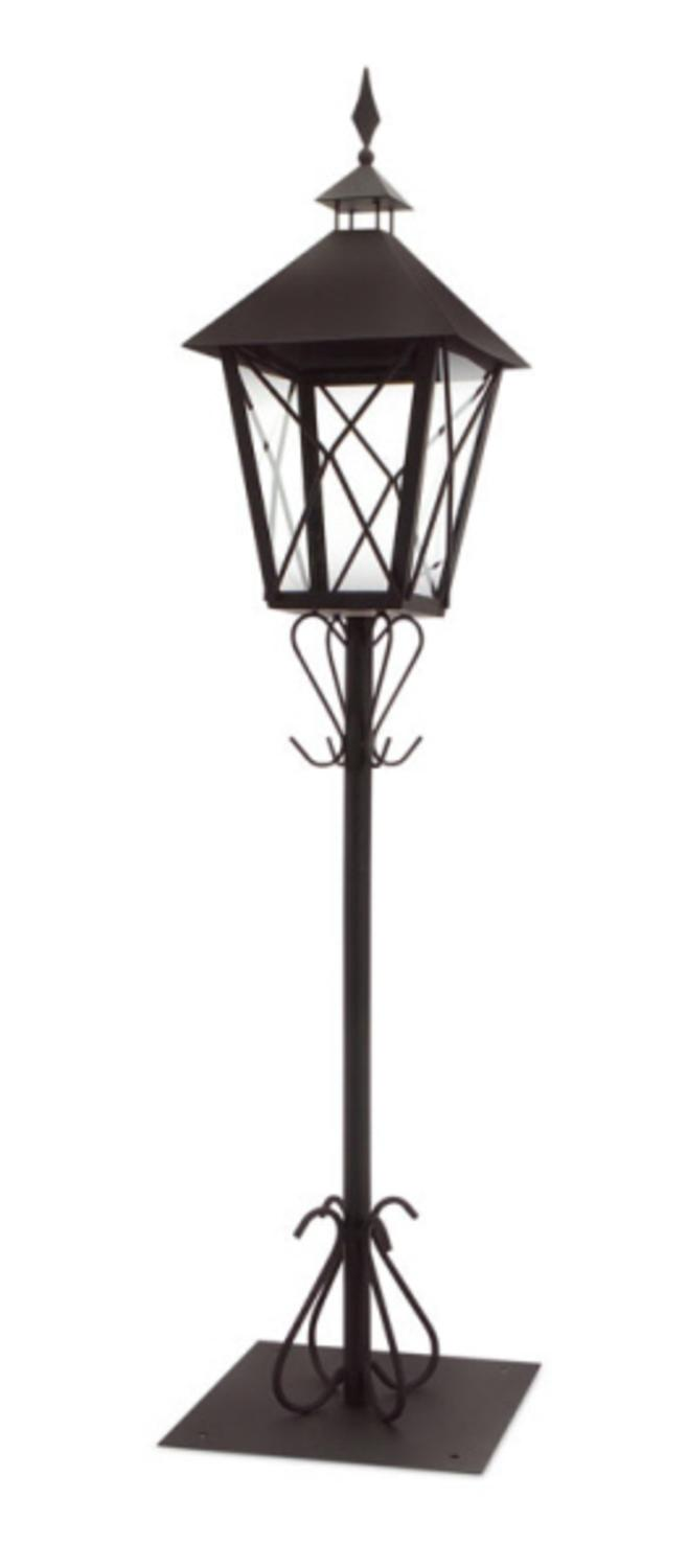 """Set of 2 Black Tall Standing Post Lantern with Stand 67"""" by Melrose"""