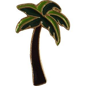 Tree Embossed Seals (Flowers Palm Tree, Licensed Artwork PIN - 3D Rubber & Embossed Metal Lapel Pins - 1