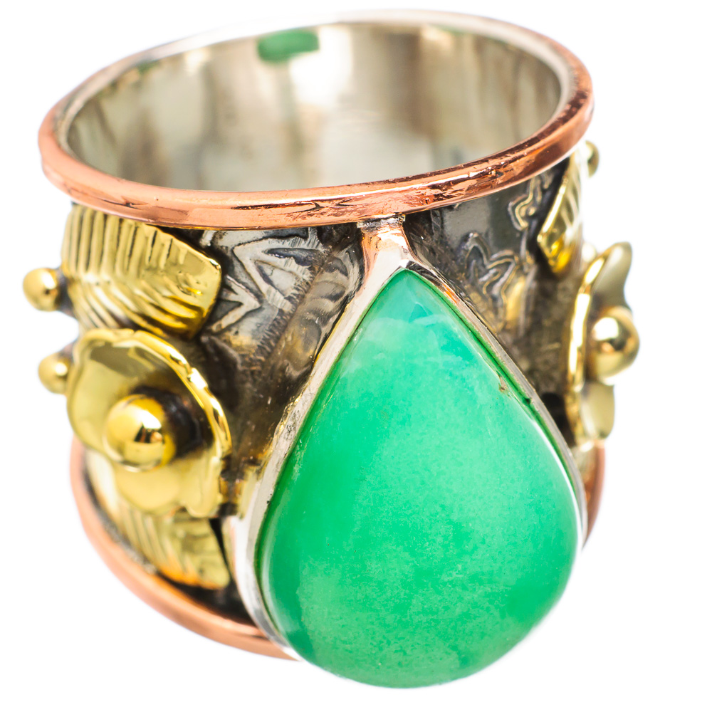 Ana Silver Co Chrysoprase Flower 925 Sterling Silver Ring Size 8 RING833850 by Ana Silver Co.