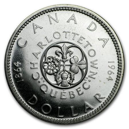 1964 Canada Silver Dollar Charlottetown Commem BU/Prooflike (1964 Dollar)