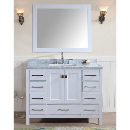 Ari Kitchen And Bath Bella Sp 48 In Single Bathroom Vanity Set With Mirror