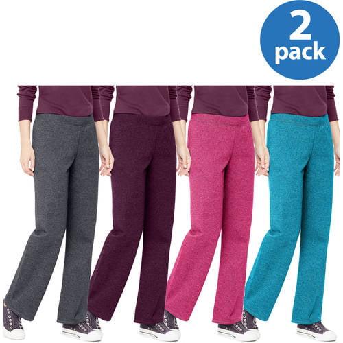 Hanes Womens Essential Fleece Sweatpants, Regular and Petite Length 2 Pack Value Bundle