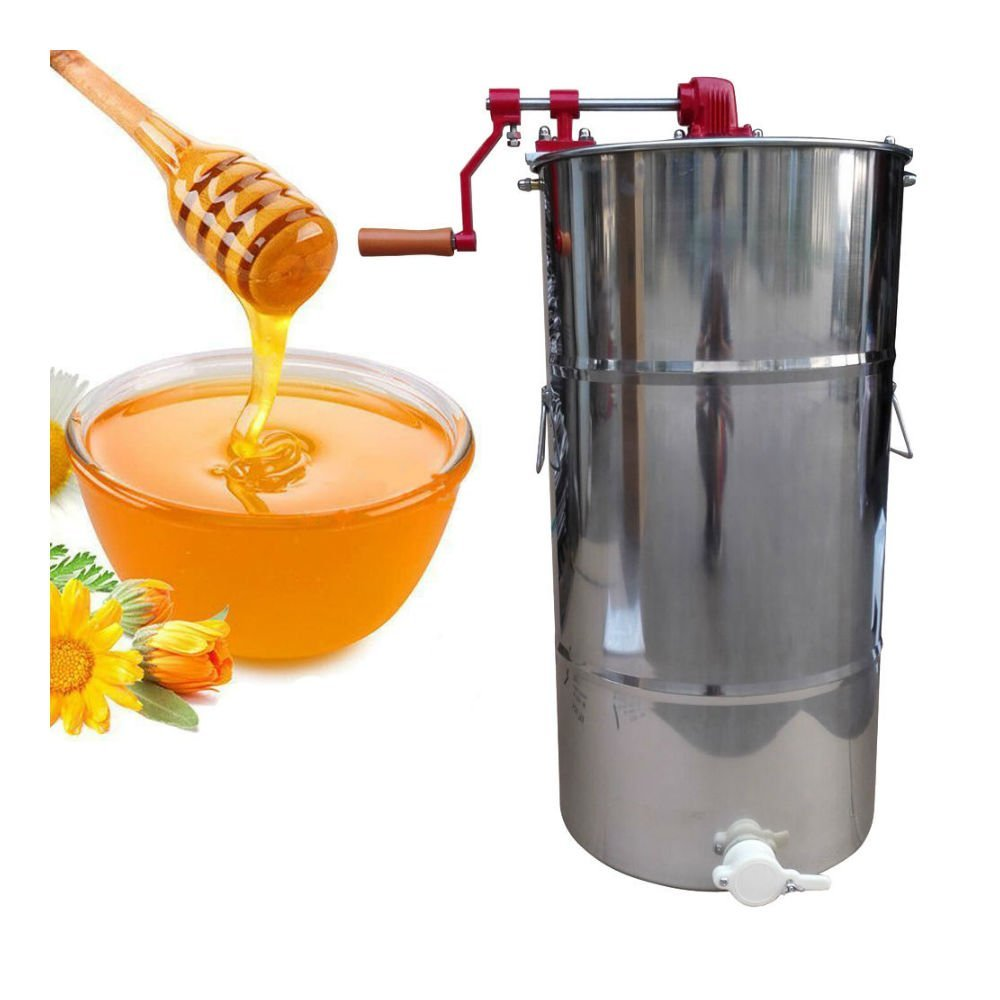Zimtown Pro 2 Frame Stainless Steel Honey Extractor Beekeeping Equipment Honeycomb Drum without Holder