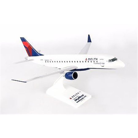 Skymarks Delta Connection Skywest Airlines ERJ175 1/100 Scale Plane with Stand (Ch Plane)