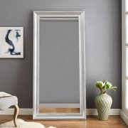 "Beaded Framed Floor Mirror Silver 66"" x 32"" by Naomi Home"