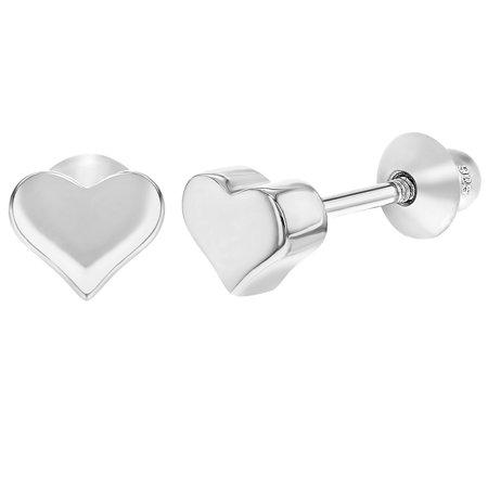 Argent 925 revisser minuscules coeur boucles Bébés filles en bas âge - image 5 de 5