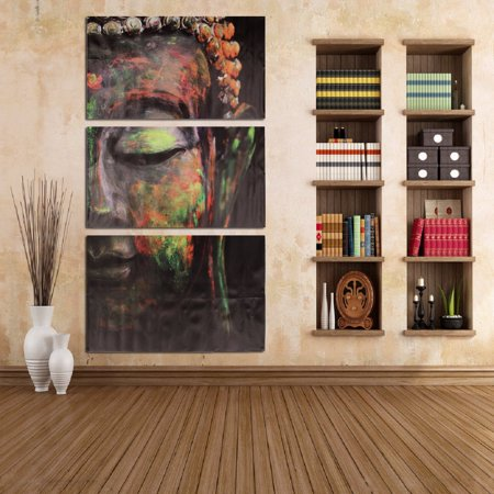 3Pcs/Set Buddha Oil Painting Wall Art Picture Canvas Prints Home Decor (Buddha Art Prints)
