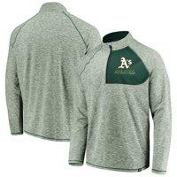 Oakland Athletics Fanatics Branded Made 2 Move Quarter-Zip Jacket - Green