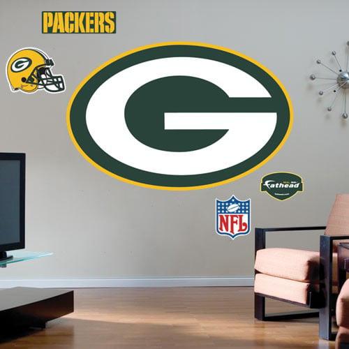 Green Bay Packers Team Logo Fathead Wall Sticker - No Size