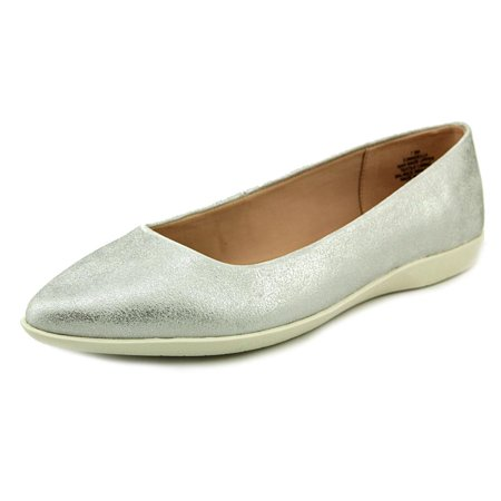 Easy Spirit Womens Madella Pointed Toe Slide Flats Silver Size 7.0