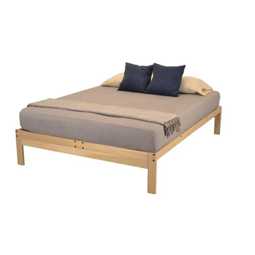 Nomad PLUS Platform Bed by KD Frames, Solid Hardwood Bed Frame, Multiple Sizes, All Natural, Made in the USA