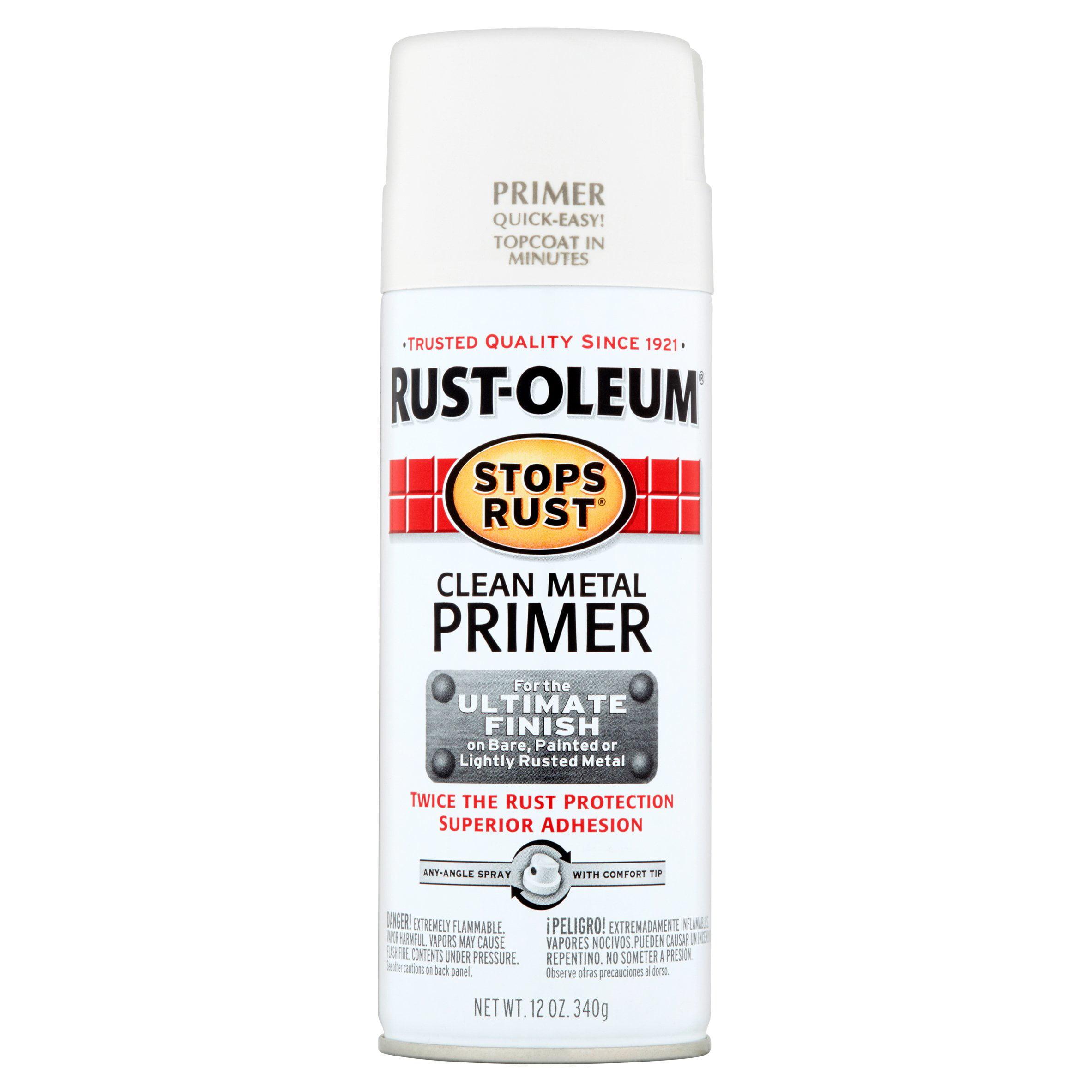 Rust-Oleum Stops Rust Clean Metal Primer Spray, 12 oz