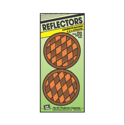 Hy-Ko Products CDRF-4A 3.25 in. Amber Plastic Reflector, Pack - 2