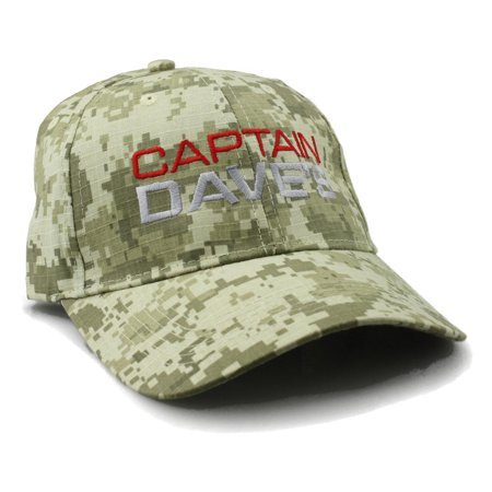 Low Profile Baseball Cap w/Embroidered Captain Dave