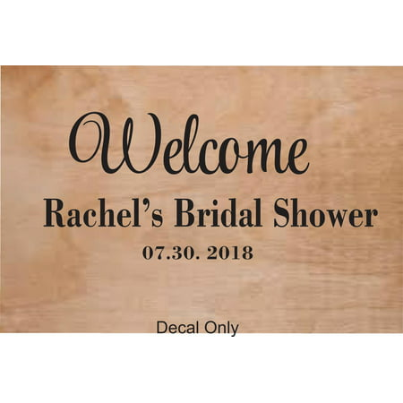 Personalized Name Vinyl Decal Sticker Custom Initial Wall Art Personalization Welcome To Our Wedding Sign Bridal Shower Marriage 10 X 20 Inches (Wedding Welcome Signs)