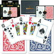 Trademark Poker Copag Bridge-Size Jumbo Index Playing Card Set, Case Of 12