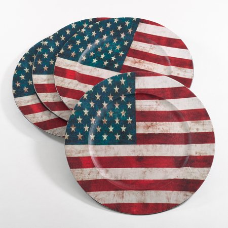 Fennco Styles Decorative Collection US Flag Holiday Design 14