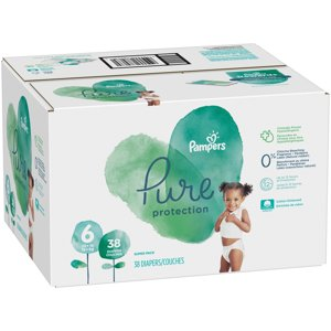 Pampers Pure Protection Diapers, Size 6, 38 Count