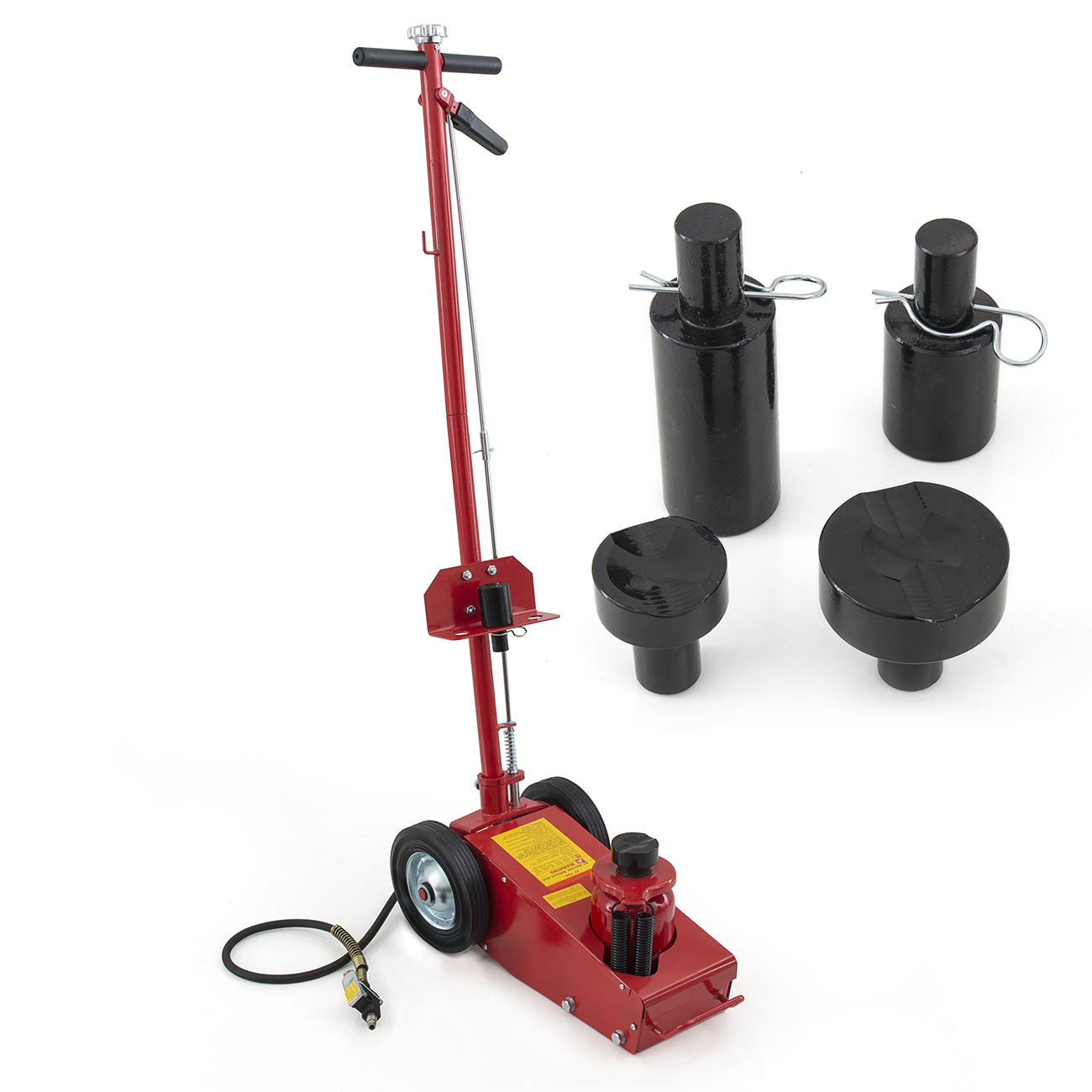 Arksen 22 Ton Hydraulic Air Floor Axle Bottle Jack w/ Whe...