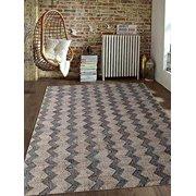 Rugsotic Carpets Hand Woven Kilim Jute 6'x9' Oriental Area Rug Beige Charcoal J00030