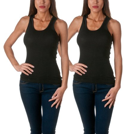 c12dc969feebb Sofra - Sofra Women s Tank Top Cotton Ribbed 2 Pack Deal - Walmart.com