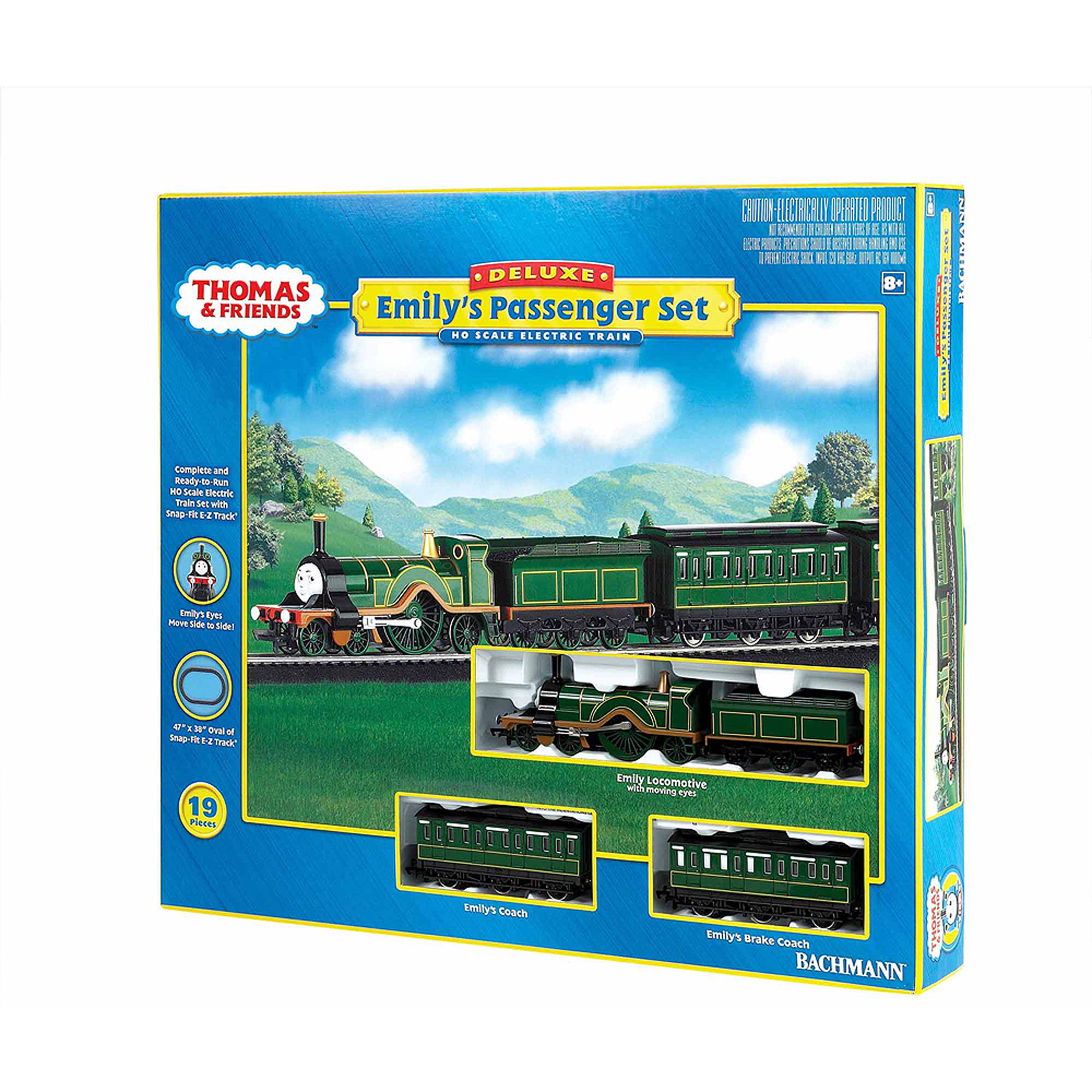 Bachmann Trains Thomas and Friends Emily's Passenger Set, HO Scale Ready-to-Run Electric Train Set