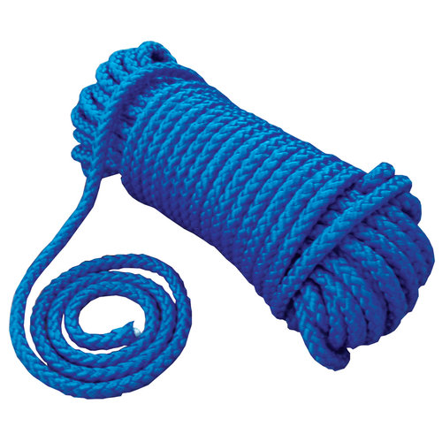 Attwood 50' Hollow Braided Polypropylene Utility Line, Blue