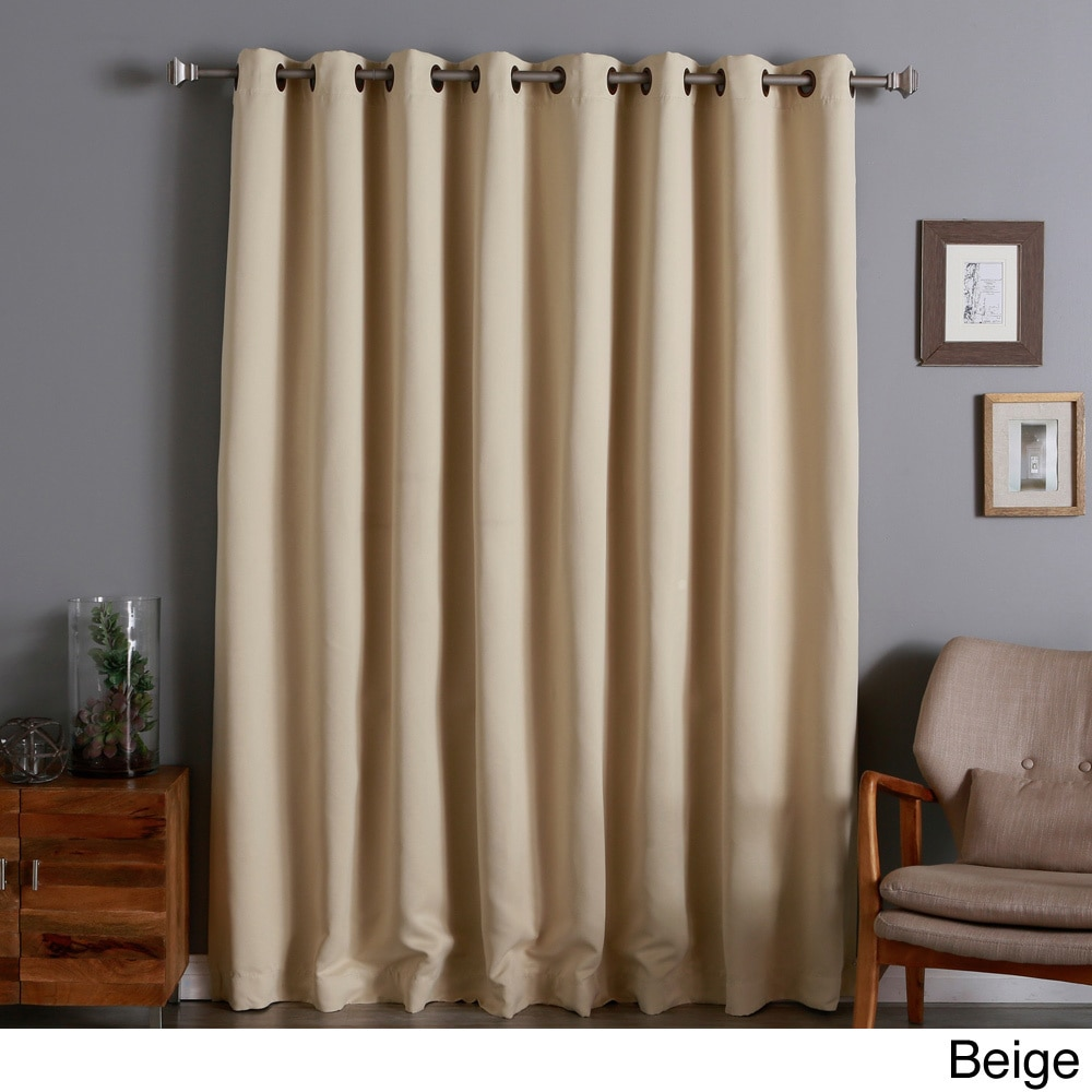 aurora home extra wide thermal 96inch blackout curtain panel walmartcom