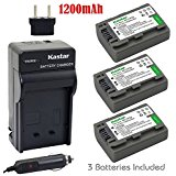 Kastar Battery (3_Pack) and Charger Kit for Sony DVD Hand...