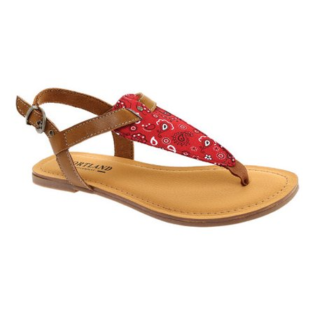 Portland Boot Company Women's Faye Thong Sandal (Navy Blue Thong Sandals)